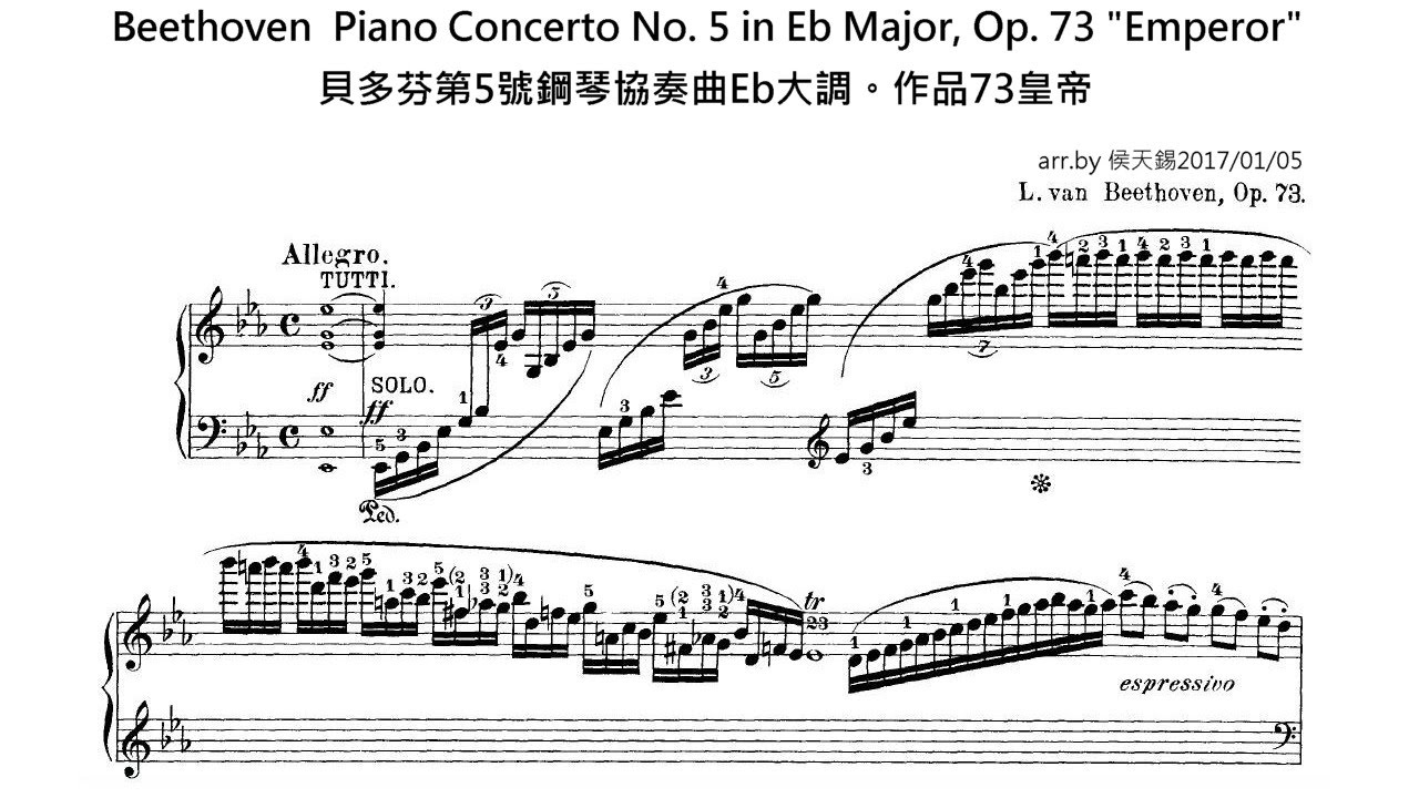 beethoven piano concerto analysis Along with his next and last piano concerto being full of many surprises - the slow movement is the longest in any beethoven concerto the piano presents the.