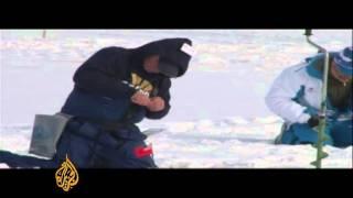 Fishing in Kazakhstan's 'iceland'!