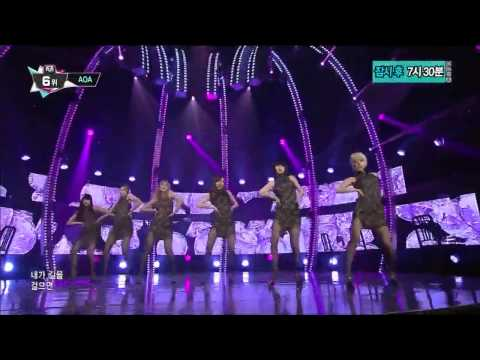 140213 AOA - Miniskirt @ M! Countdown