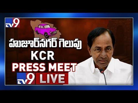 CM KCR Press Meet LIVE || Huzurnagar Bypoll Results - TV9