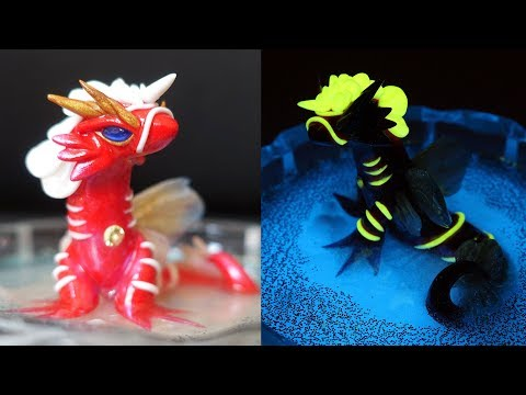How to Make a Sea Creature/ Dragon   Polymer Clay Tutorial