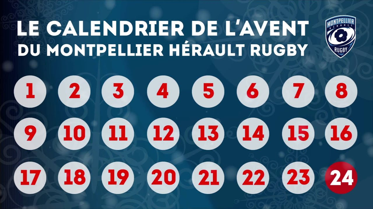 le calendrier de l 39 avent du montpellier h rault rugby. Black Bedroom Furniture Sets. Home Design Ideas