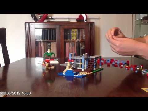 Lego Creator 7346 Seaside House time lapse build
