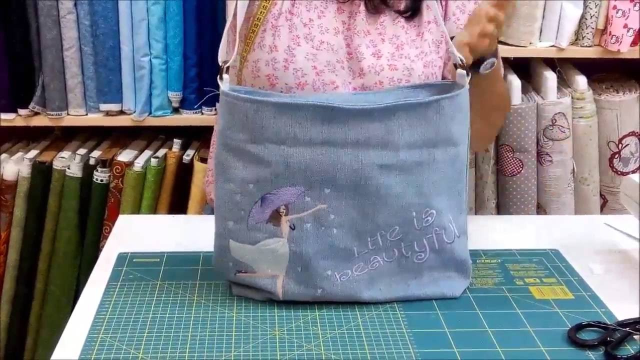 Tutorial borsa jeans youtube for Borse fai da te jeans