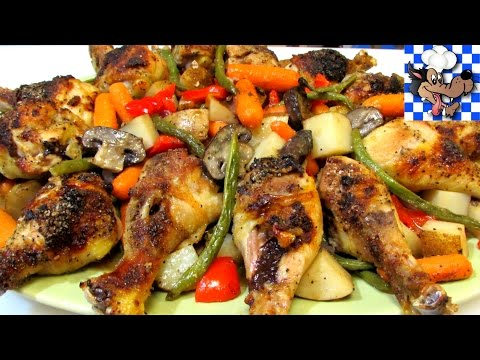 How to Make 'Baked Chicken & Vegetables' -  EASY One Dish Family Style Meal - The Wolfe Pit