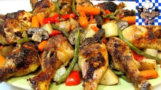 Baked Chicken Recipe - How To Bake Chicken - One Pan Family Style Meal