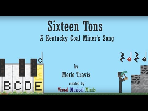 Sixteen Tons ~An Orff Arrangement for Xylophone, Rhythm Sticks, and Voice... with Minecraft