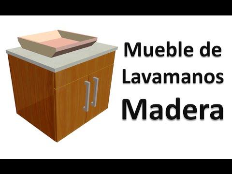 Construcci n mueble de lavamanos madera planos youtube for Muebles para lavamanos