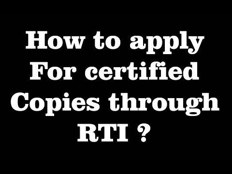 How To Apply For Certified Copies Through RTI? CS Students