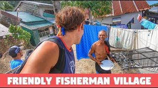 Exploring a Simple FILIPINO Fishing Village | Local PHILIPPINES With Fighter Boys