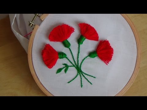 Hand Embroidery: Tassel Stitch (Flowers)