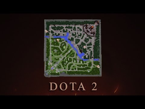 Карта DOTA 2 в Minecraft.