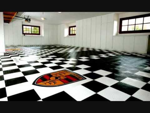 Racedeck dalles de sol pour garage youtube for Carrelage damier noir et blanc 20x20