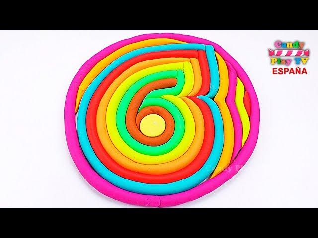 Aprender colores en español para niños  Como hacer los número seis en plastilina Play Doh