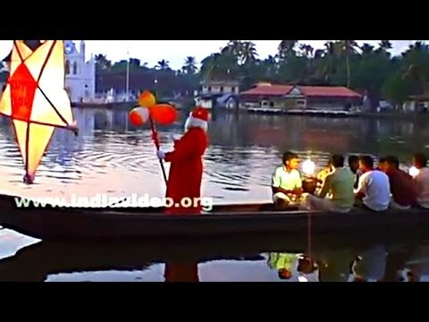 Santa Claus on a Country Boat