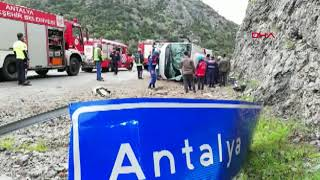 Antalya'da midibüs devrildi: 2 ölü, 15 yaralı