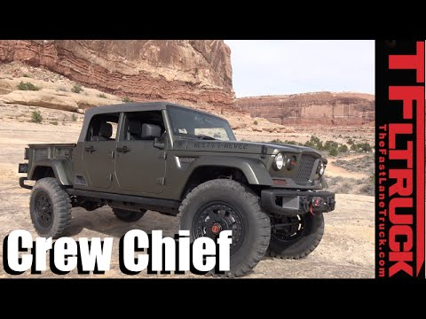 We Drive the Jeep Crew Chief 715 Pickup Truck Concept Off-Road!