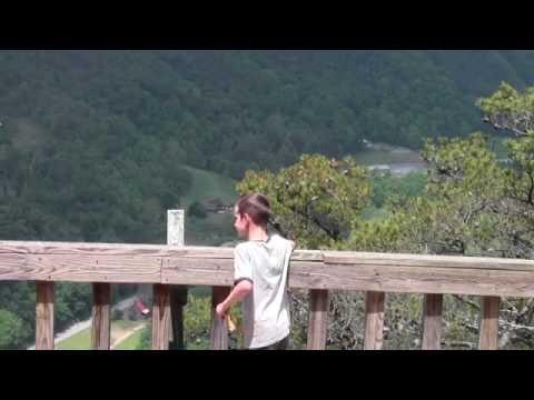 Hiking at Seneca Rocks, West Virginia