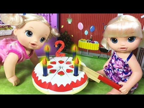 Baby Alive Oyuncak Bebek Doğum Günü Partisi | Bebek Bakma Oyunu | EvcilikTV