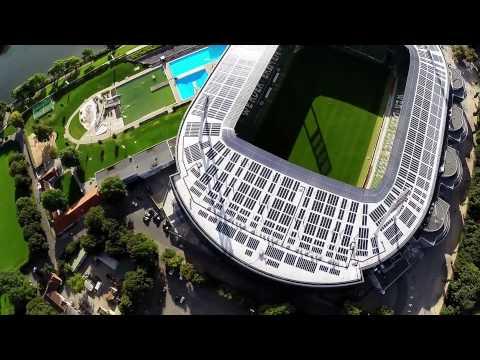 Weserstadion von oben, Drone, dji F550 + gopro