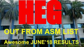HEG - OUT FROM ASM LIST - Awesome JUNE'18 RESULTS