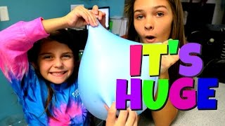 😳 GIANT FLUFFY SLIME STRESS BALL 😳 GROSS DARE FOR EMMA TO GET HER PRESENTS | Emma & Ellie