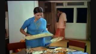 Rekha  Indian Actress Hot Beautiful in Blue Saree