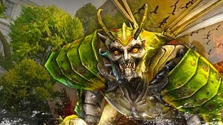 Counter-Strike Nexon: Zombies - Laser Wing Zombie boss Fight online gameplay on Omen map
