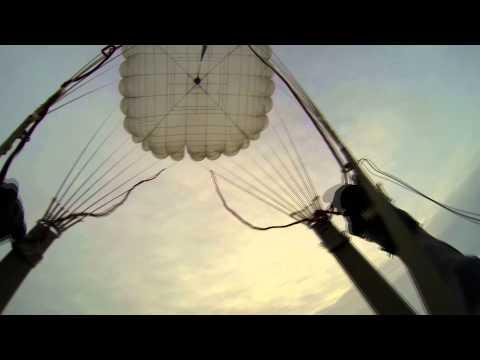 Прыжок с парашютом д-6 от первого лица