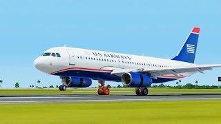 US A320 Landing @ Las Americas ( Outside ) ( HD )