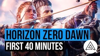 First 40 Minutes of Horizon Zero Dawn (PS4 Pro) | Gameplay Part 1 (SPOILERS)