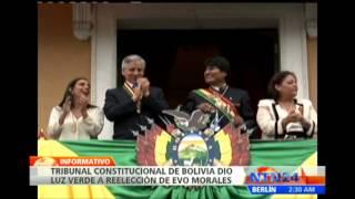 Tribunal de Bolivia da luz verde a candidatura de Evo Morales para la reelección 2017 Video