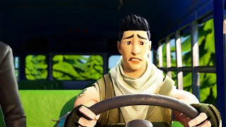How the Bus Driver almost Failed the Driving Test! (Fortnite Animation)