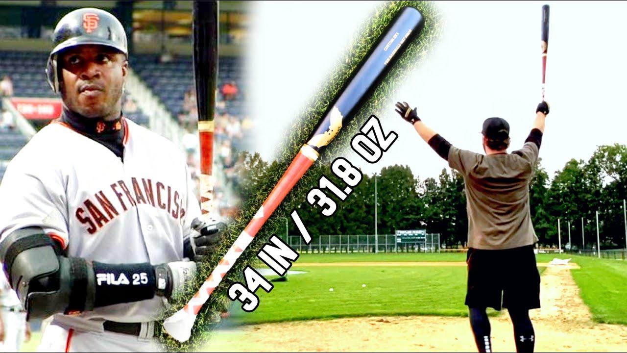 Hitting with BARRY BONDS' BAT - Sam Bat 2K1 Maple - Wood Baseball Bat Reviews