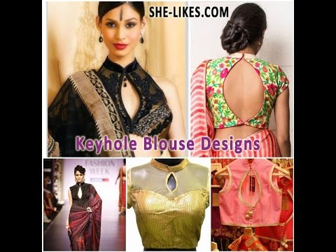 6624dd48b12662 Latest Best Trendy Designer Keyhole Blouse Designs - YouTube