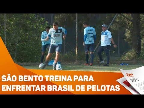 São Bento treina para enfrentar Brasil de Pelotas - TV SOROCABA/SBT