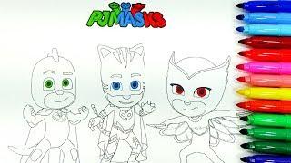 скачать Colorear Dibujos De Los Pj Masks Foreveronline Ru