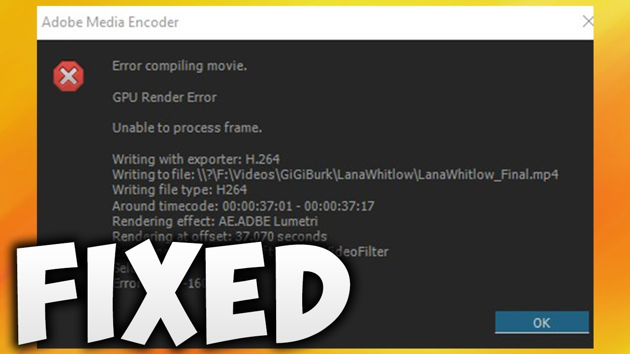 How To Fix Adobe Premiere Pro Error Compiling Movie (Easy Solution)