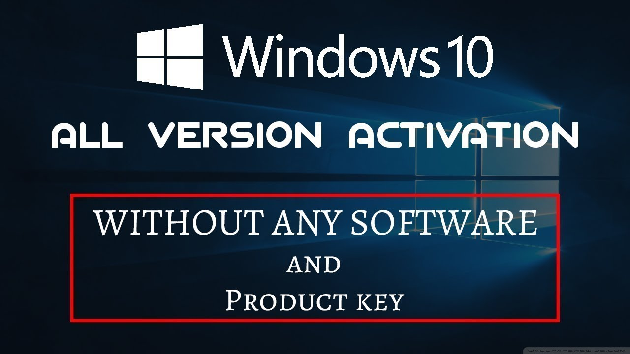 activation windows 10 pro 2019