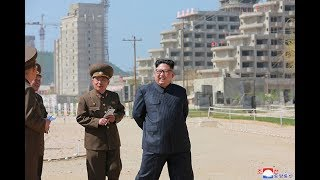 Kim Jong Un Inspects Construction Site of Wonsan-Kalma Coastal Tourist Area.