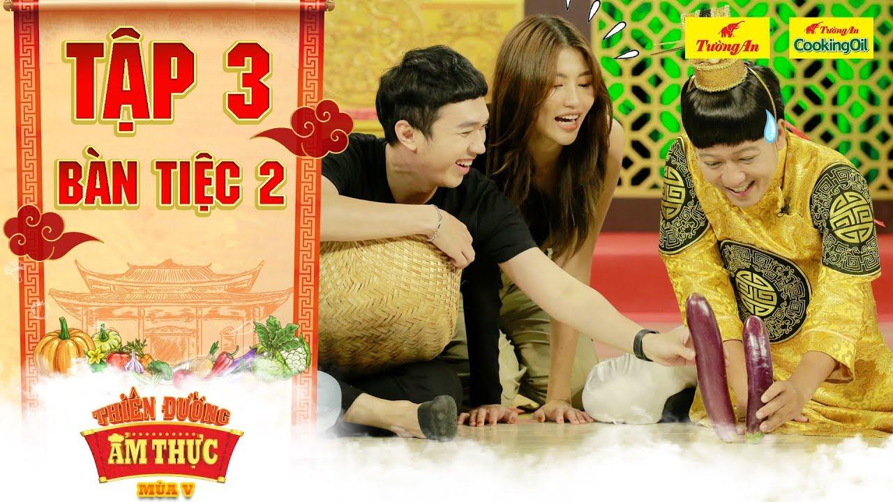 Thiên đường ẩm thực 5   Tập 3 Bàn tiệc 2: Trường Giang cười xỉu với màn thu hoạch cà tím của Minh Xù