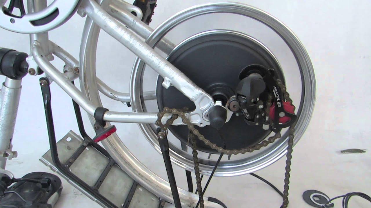 16 inch 48V 1000W rear hub motor - electric bike conversion kit - Leaf
