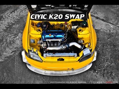 Honda Civic k20 swap [Full Build] K20 Civic