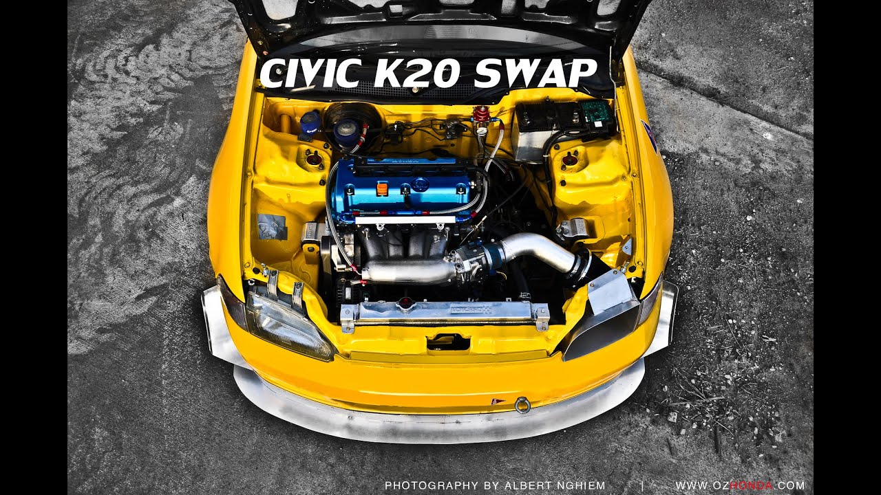 Honda Civic k20 swap [Full Build] K20 Civic - YouTube