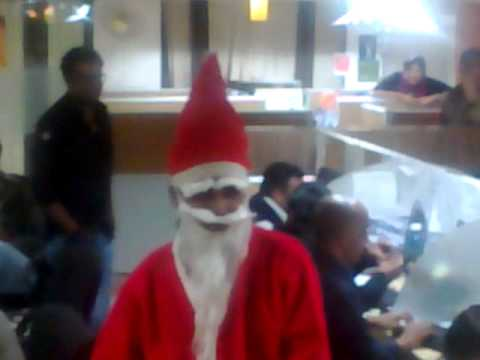 Santa Claus in dainikbhaskar bhopal office