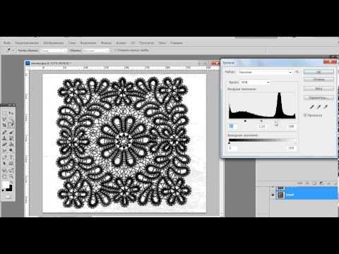 Создание в фотошоп сколка кружева для плетения на коклюшках