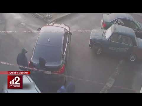 Администратор СТО пошел на таран грабителей   видео