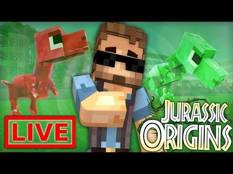 Jurassic World Origins LIVE #19.5 (Dinosaur Mod Minecraft Roleplay) /w Xylophoney