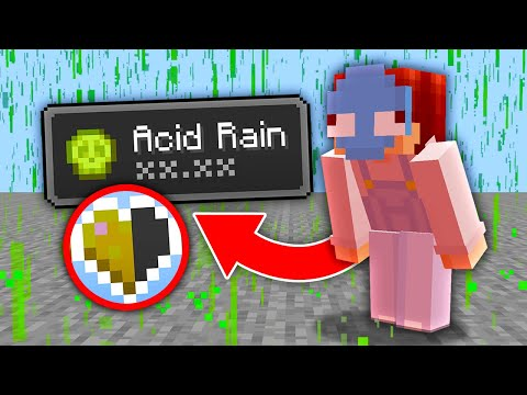 Minecraft, But It Rains Acid... - Wisp