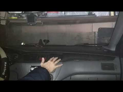 Как снять кнопку аварийки на лансер 9